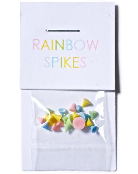 Rainbow Nail Spikes