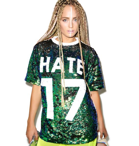 Haters Gonna Hate Sequin Tee