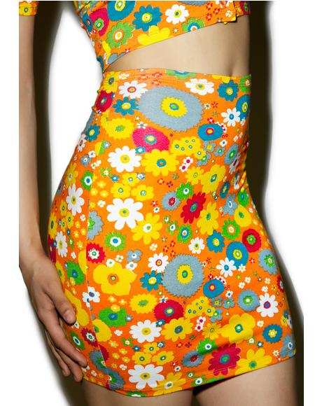 Playtime Floral Kimmy Skirt