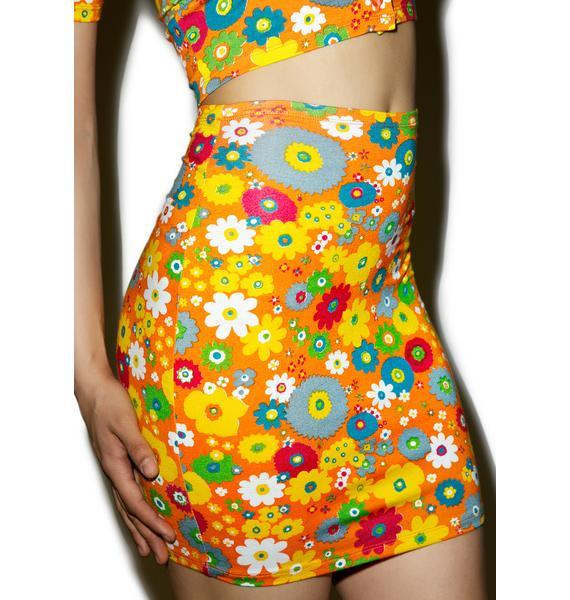 Motel Playtime Floral Kimmy Skirt