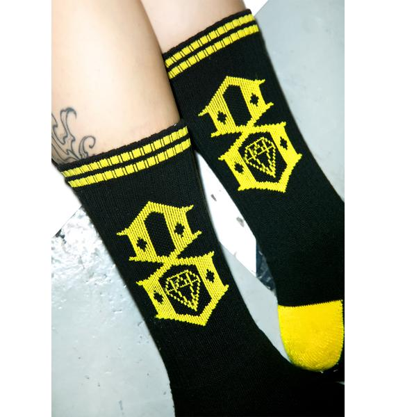 Rebel8 Dark Logo Socks