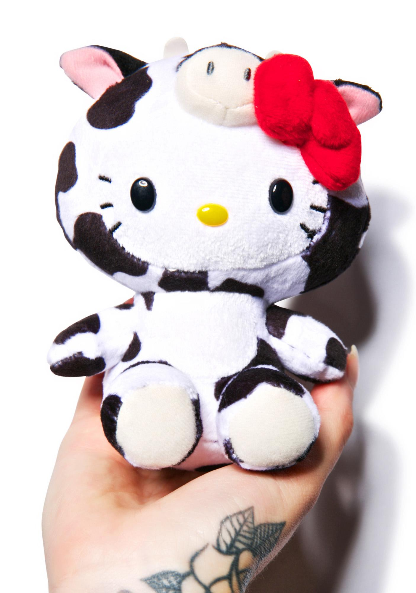 Sanrio Farm Friends Hello Kitty Cow Plush