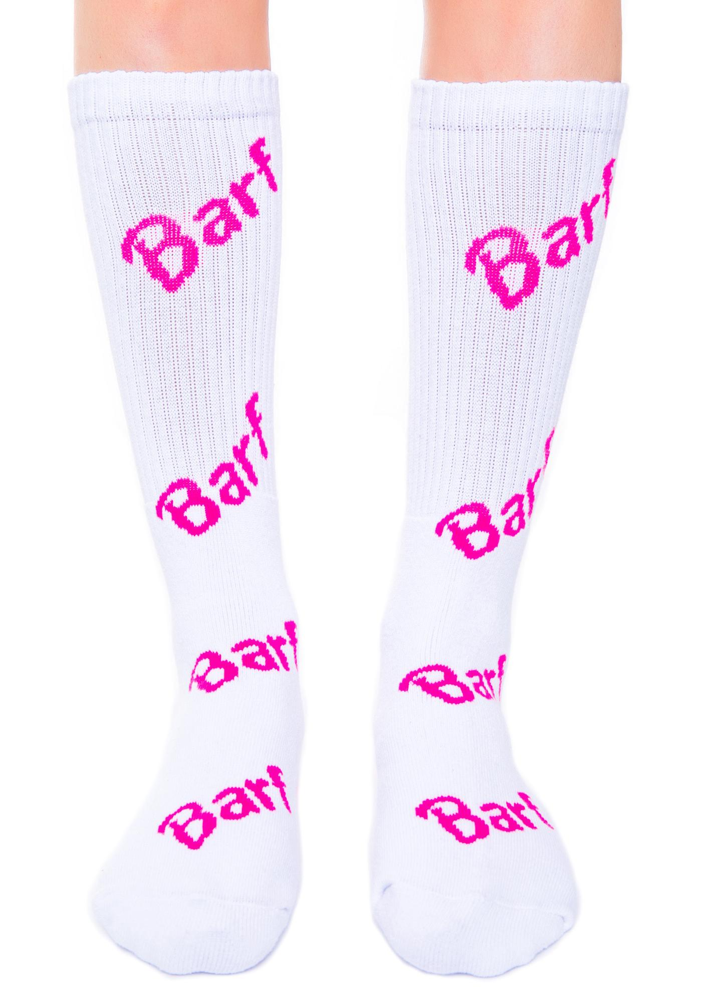 Petals and Peacocks Barf Socks