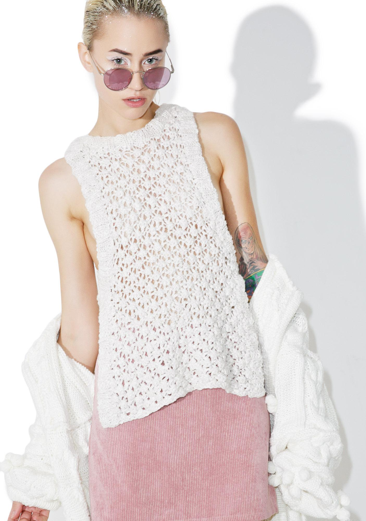 For Love & Lemons Mulberry Handknit Tank