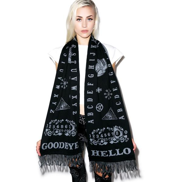Too Fast Ouija Knit In Scarf