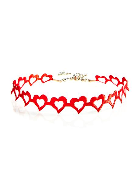 Lovely Heart Choker