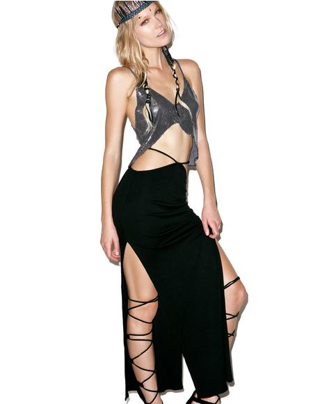 Gigi High Slit Convertible Maxi Skirt