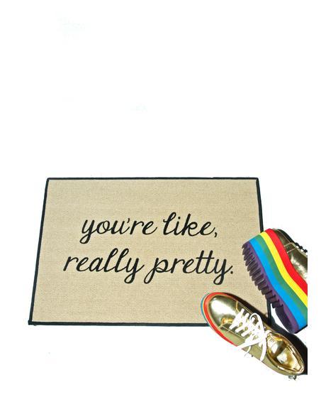 Like, Really Pretty Door Mat