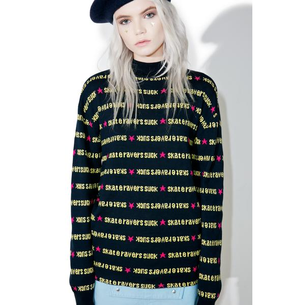 MadeMe x X-Girl Navy Turtle Neck Sweater