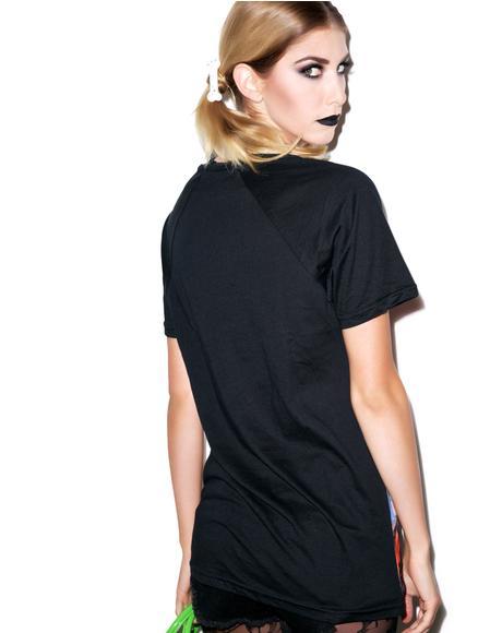 Mars Attacks Sin City Skinner Raglan T Shirt