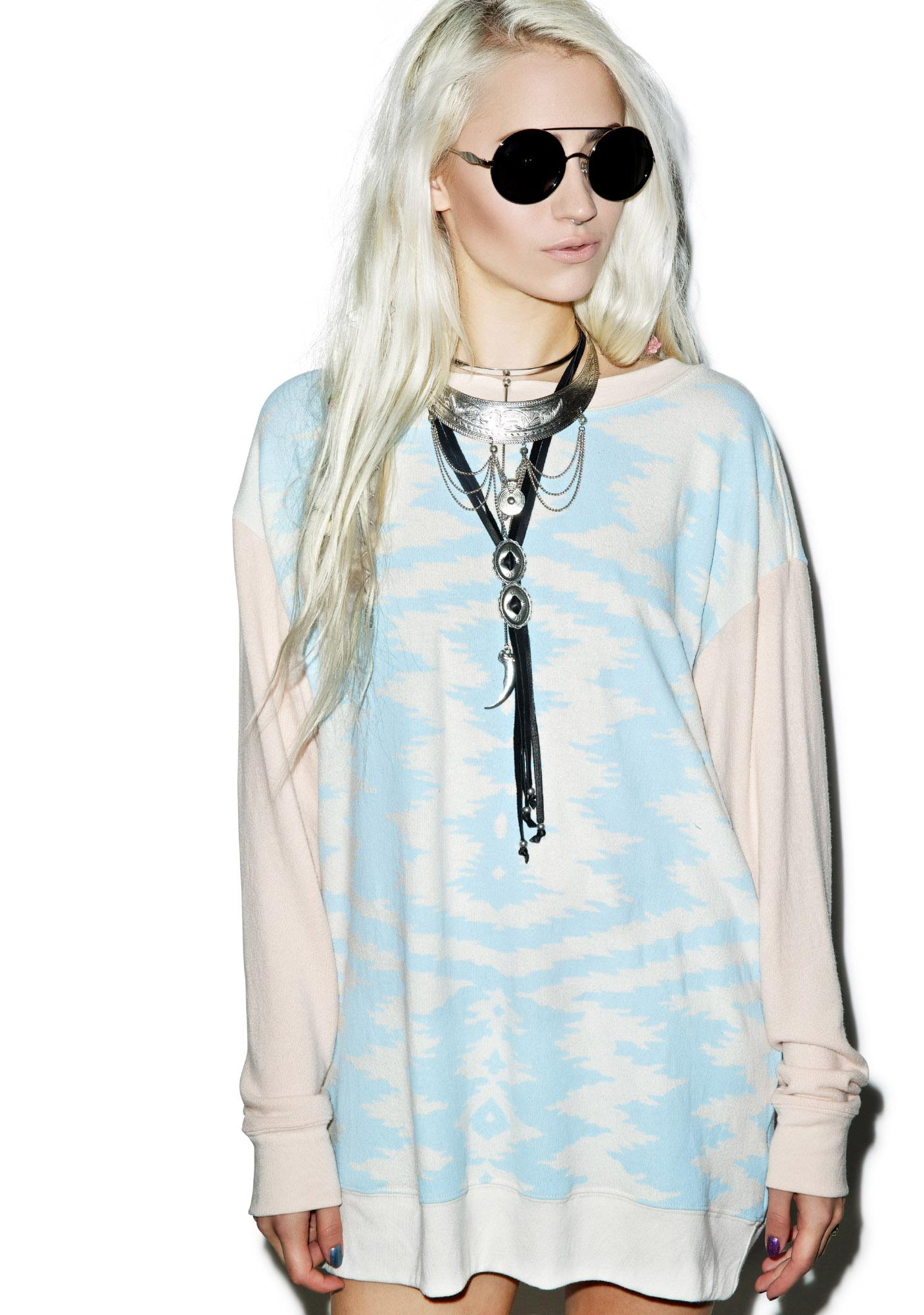 Wildfox Couture Morocan Zig Zag Roadtrip Sweater