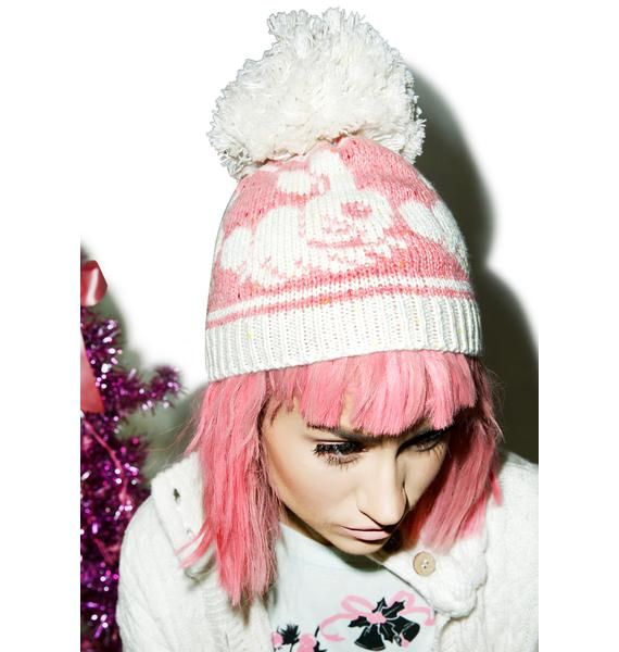 Wildfox Couture Bunny Jump Cable Knit Beanie