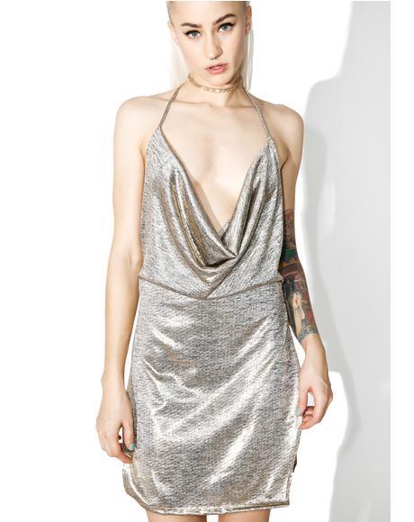 Metallic All Nighter Mini Dress
