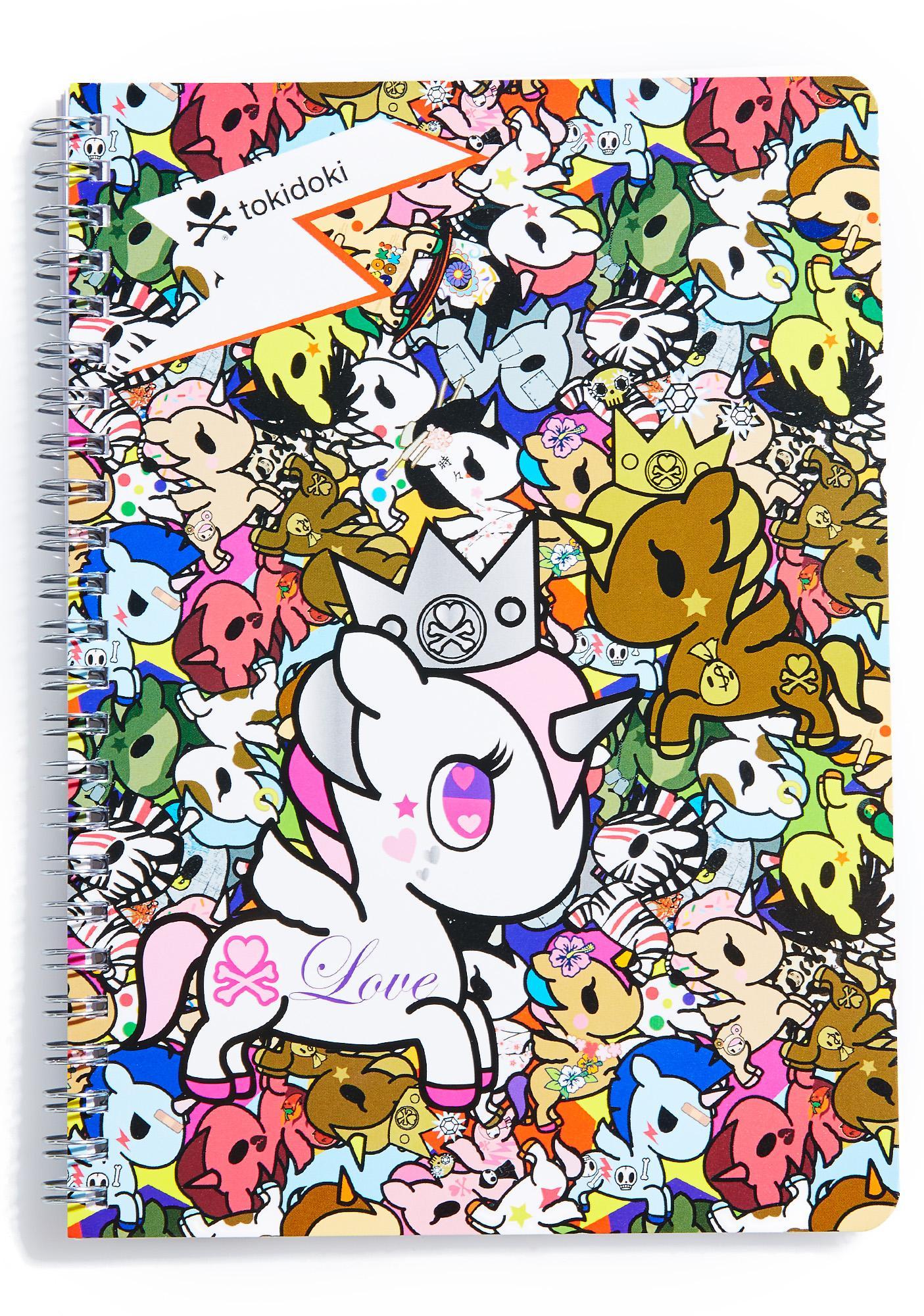 Tokidoki Unicornos Spiral Notebook