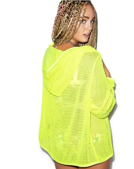 Mesh Hooded Jacket