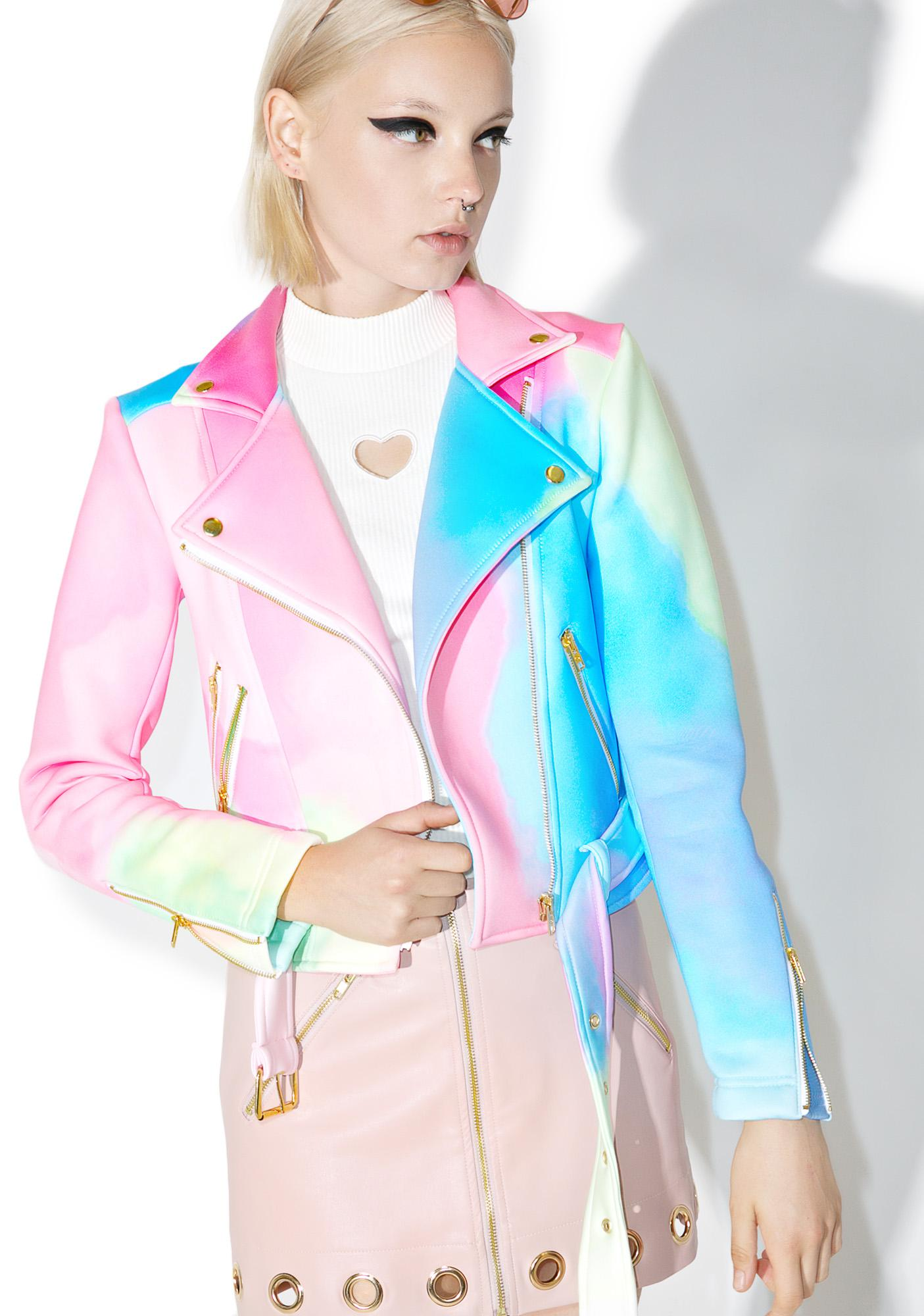 Sugarpills Watercolor Moto Jacket