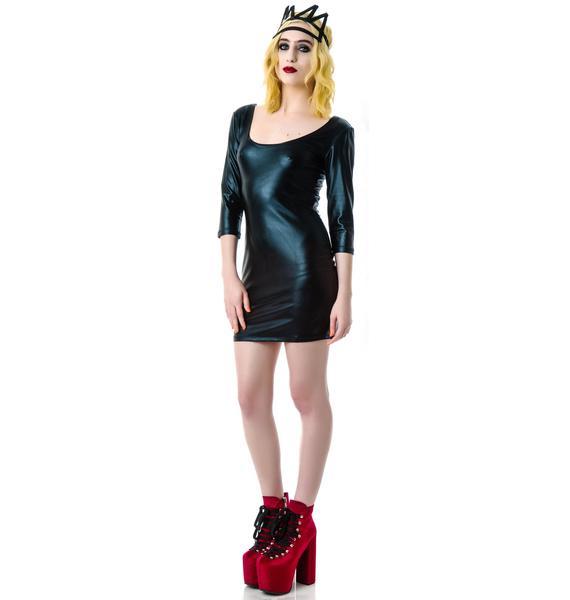 Embrace Faux Leather Dress