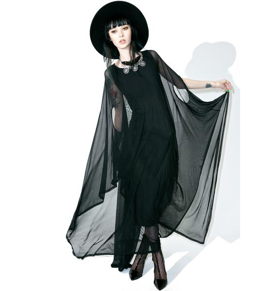 Killstar Mystic Hannah Hell Mesh Maxi