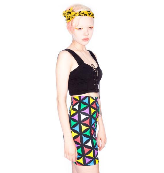 Joyrich x Giza Multi Geometric Jersey Skirt