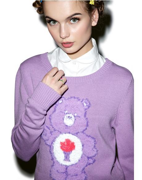 Share Bear Crop Sweater