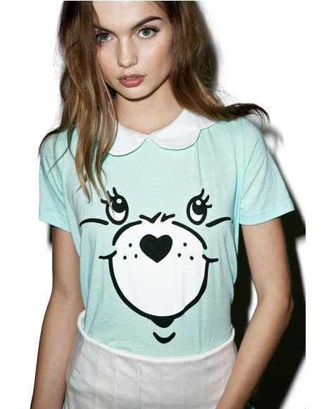 Minty Care Bear Stare Girly Tee