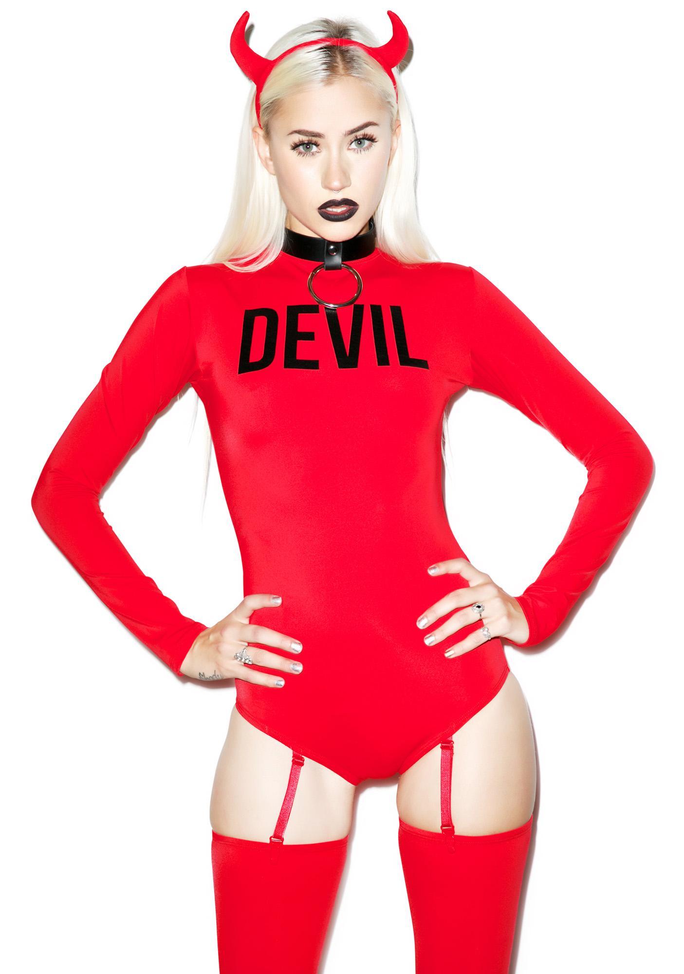 Devious Devil Bodysuit Set