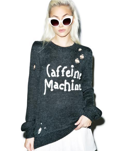 Caffeine Machine Misty Sweater