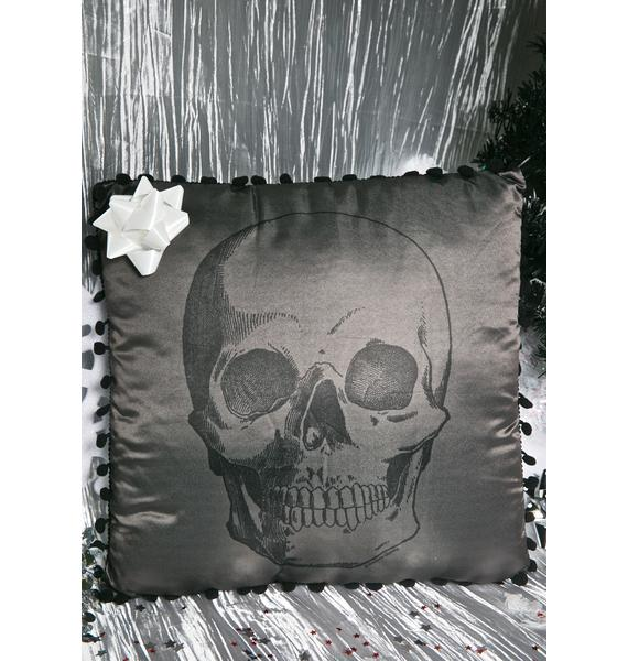 Sourpuss Clothing Skull Throw Pillow
