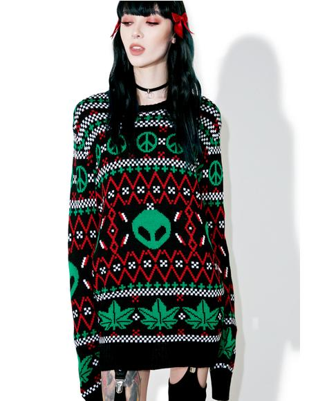 Cannabis Christmas Sweater