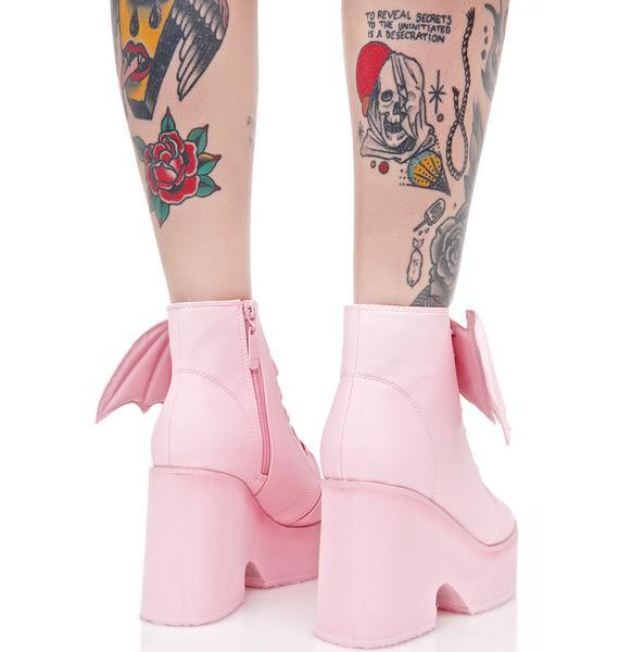 Iron Fist Bubblegum Bat Wing Boots