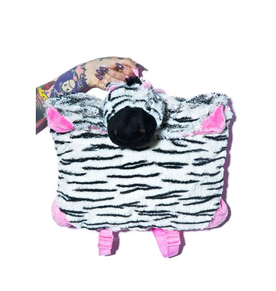 Pillow Pets Zippity Zebra Backpack