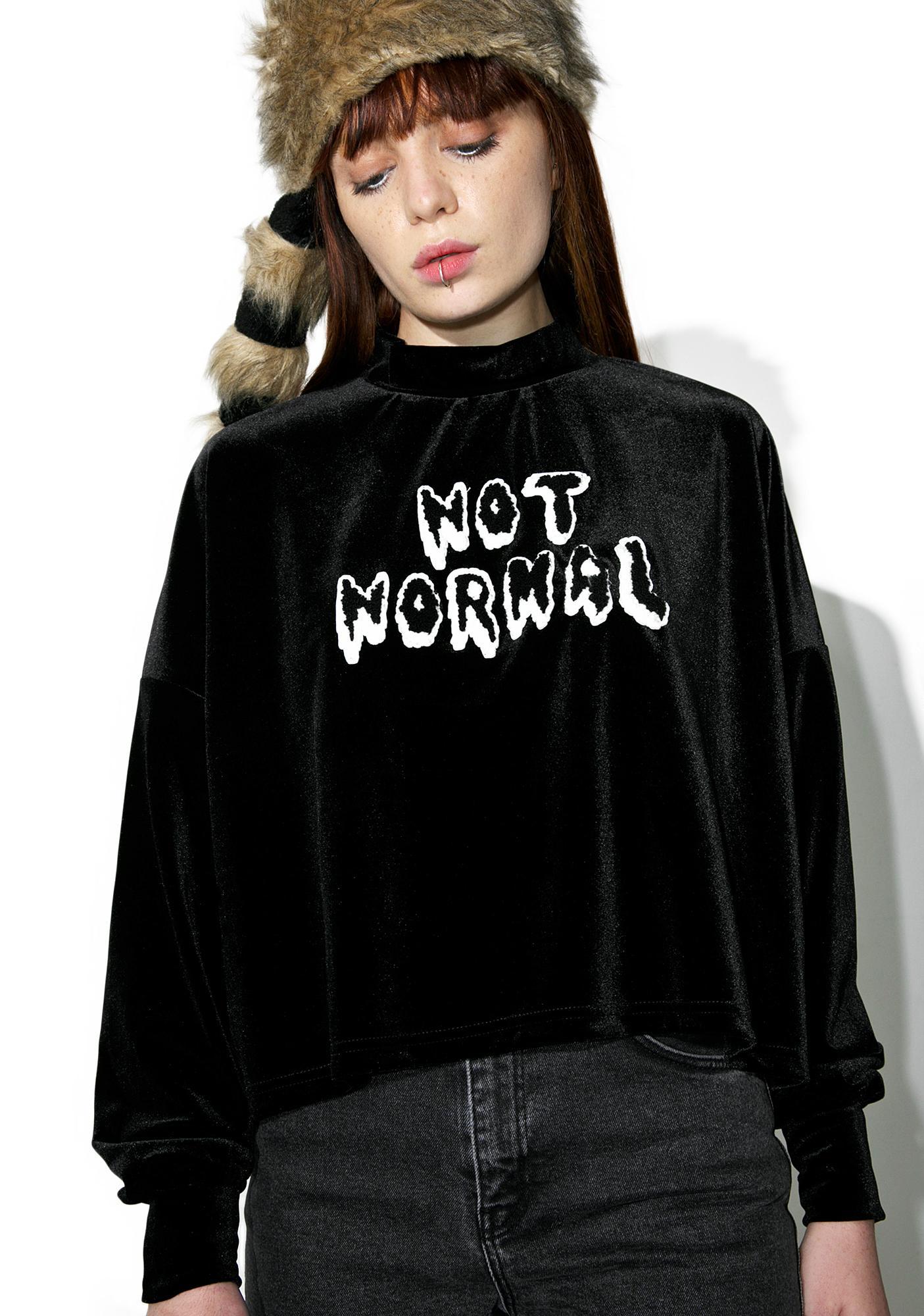 Lazy Oaf Not Normal Velvet Sweater