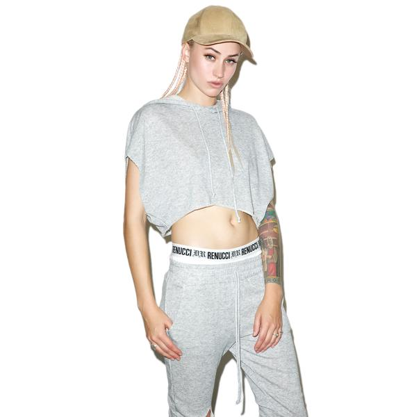 Knockout Cropped Hoodie