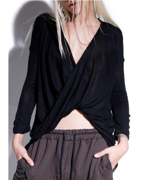 Abysmal Draped Surplice Top