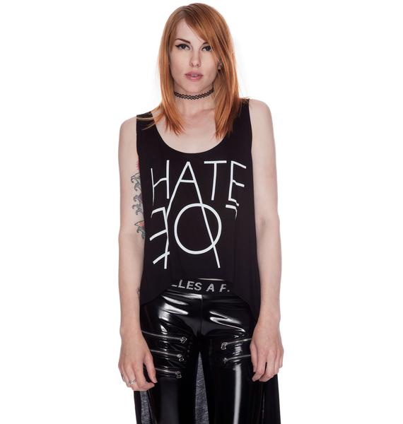Lafine Hate Long Tail Crop Tank