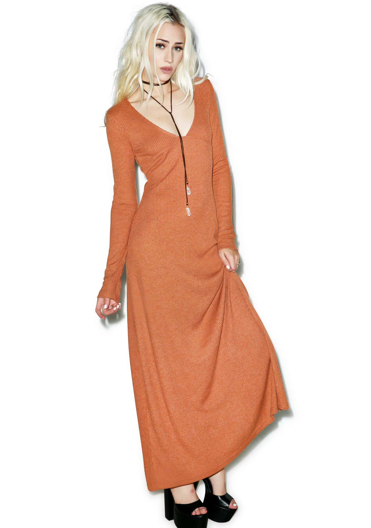 Somedays Lovin Patti Rib Maxi Dress
