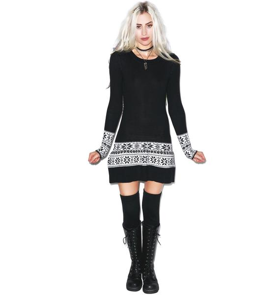 For Love & Lemons Ice Skate Mini Dress