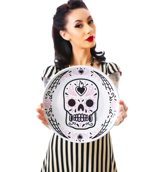 Sourpuss Clothing Sugar Skull Plate