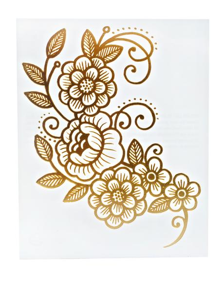 Gold Vine Temporary Tattoo