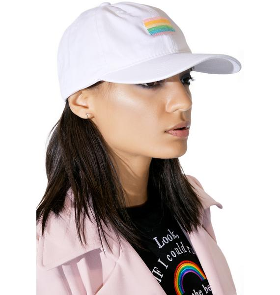Petals and Peacocks Pastel Pride Dad Hat