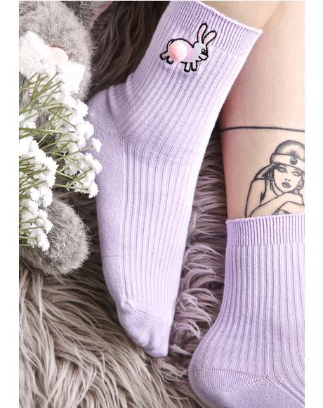 Pom Bunny Socks