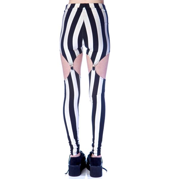 Widow Beetlejuice Garter Leggings