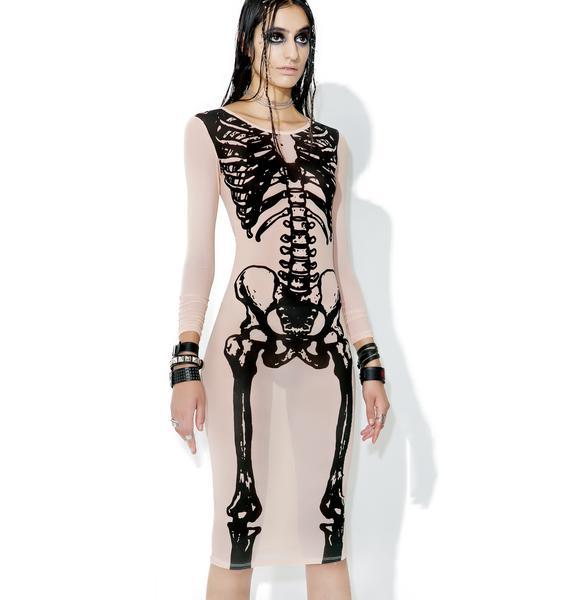 Iron Fist Wishbone Mesh Midi Dress