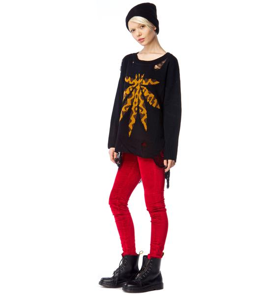 UNIF Weed Leopard Sweater