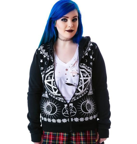 Read Into the Symbols Studded Hoodie