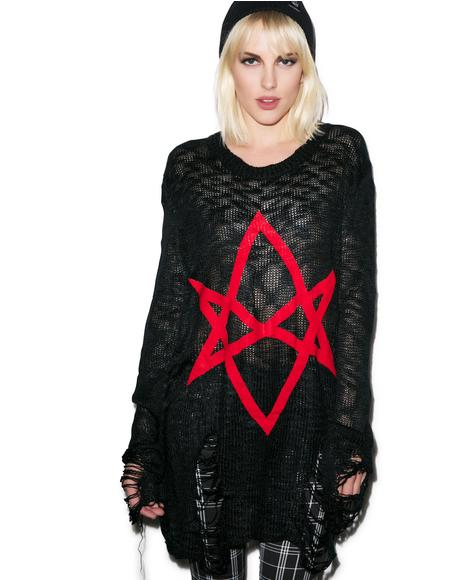 Hexagram Knit Sweater