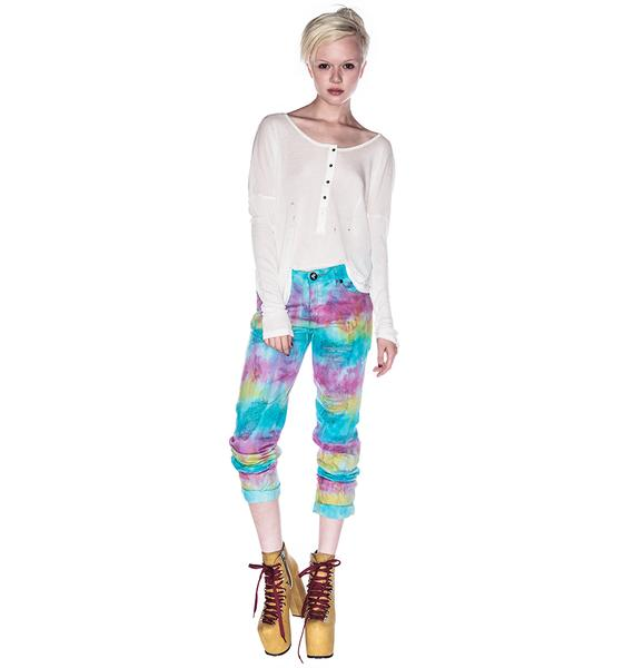 One Teaspoon Tie Dye Baggies Pants