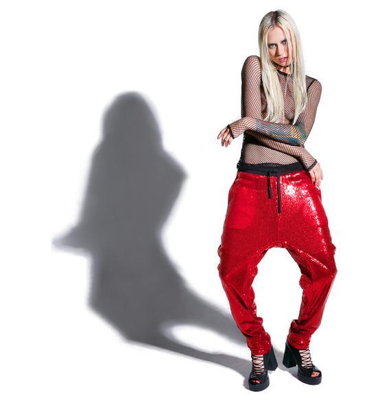 24HRS X Dolls Kill Fantasy Sequin Joggers