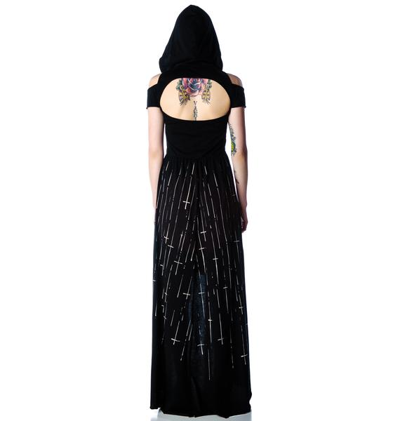 Lip Service Hooded Screen Maxi Dress