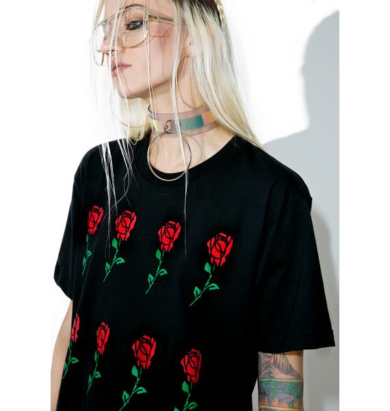 Petals and Peacocks Dozen Long Stem Tee